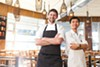 Chef Sean Baker and line cook Young M Tran at Gather Restaurant in Berkeley.