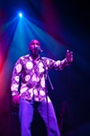 Normally a two-man operation, opening act Zion-I still had enough stage presence to fill the enormous Fox Theater. That night they were four, with the addition of backup vocalist Codany Holiday and a cameo from bilingual rapper Deuce Eclipse.
