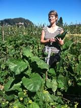 ALLISON SHIOZAKI - Community farmer Allison Moeller works the Gill Tract.
