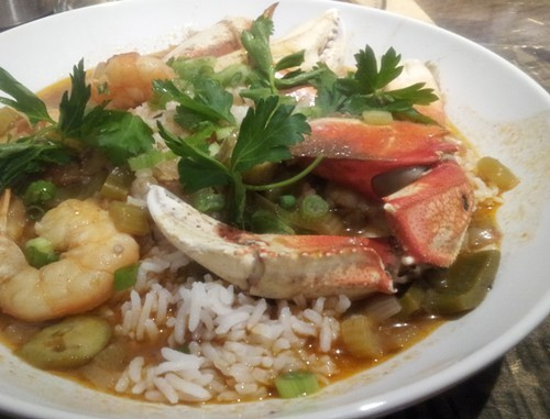Crab gumbo was the best dish of the night.