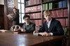 Daniel Radcliffe stars as Allen Ginsberg and Dane DeHaan stars as Lucien Carr in <i>Kill Your Darlings.</i>