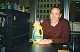 TIM KINGSTON - Dara O'Rourke with one of the products reviewed by his web site.