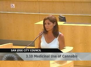Darlene Welch delivers public comment during a heated San Jose City Council meeting