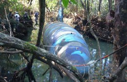 DEA pic of captured, fully submersible narco-sub