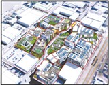 Detail from a schematic of the proposed Peerless Greens development.