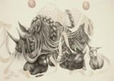 "Detail of Jillian Ludwig's ""Rhino."""
