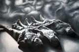 "Detail of Jordan Essoe's ""Ma la gioia e pellegrina sulla terra."""