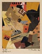 """Detail of Kurt Schwitters' """"Mz 410 irgendsowas (Something or Other)."""""""