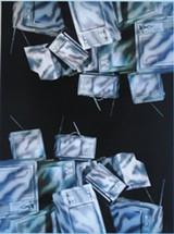 """Detail of """"No War"""" by Maria Gilardin."""