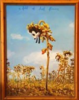 """Detail of T.L. Douveres' """"A Field of Doof Flowers."""""""