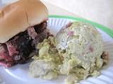 JESSE HIRSCH - Double D's brisket and potato salad.
