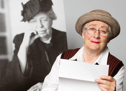 "Eleanor Roosevelt and Terry Baum, who plays Lorena Hickok, aka ""Hick."" - LIZ PAYNE"