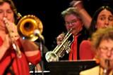 "JANE HIGGINS - Ellen Seeling performing at Yoshi's. She says men have a ""lock on jazz."""