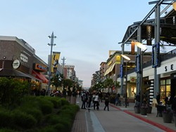 Emeryville's Bay Street Mall contains dozens of shops and restaurants with low-wage employees.