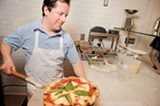 CHRIS DUFFEY - Even the pizza crusts are pungent and chewy.