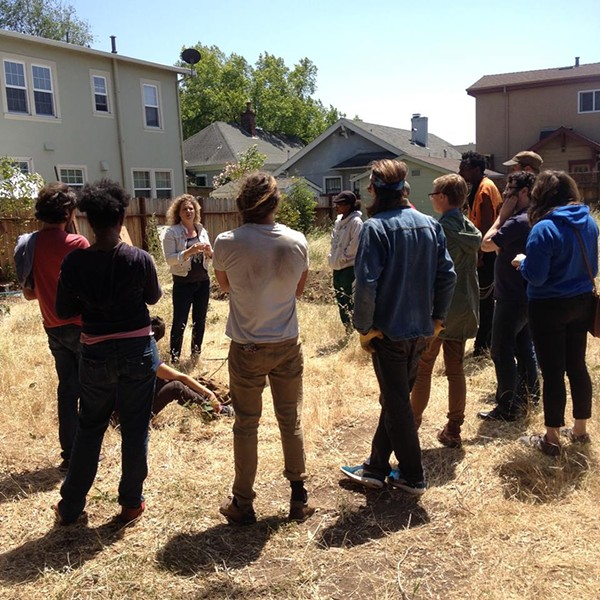 Day 3 of Oakland Spring Rising: a potential garden site near the Omni Oakland Commons. - ALLISON MOELLER