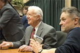 Former president Jimmy Carter and director Jonathan Demme