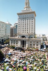Frank Ogawa Plaza during Art & Soul.
