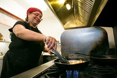 From her restaurant in the back of an unassuming deli in a residential neighborhood in Richmond, Norma Muñoz serves up some of the best Salvadorian and Mexican food in the East Bay. - BERT JOHNSON