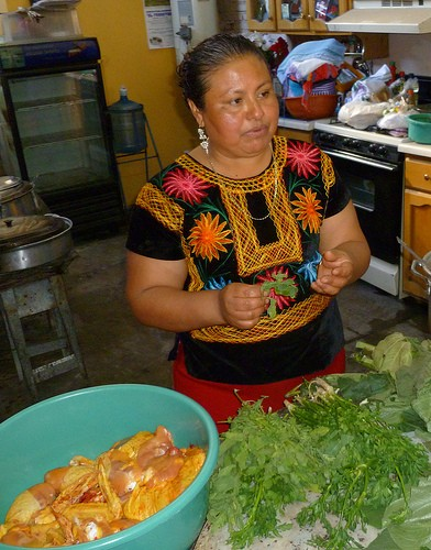From last years Oaxaca tour: Cooking workshop in Xoxocotlán with Doña Rocio (photo courtesy of Food Sovereignty Tours)