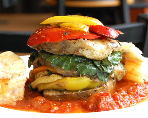 From todays menu: a summer vegetable stack.