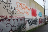 J. DOUGLAS ALLEN-TAYLOR - Graffiti is prevalent along the International Boulevard corridor in East Oakland.