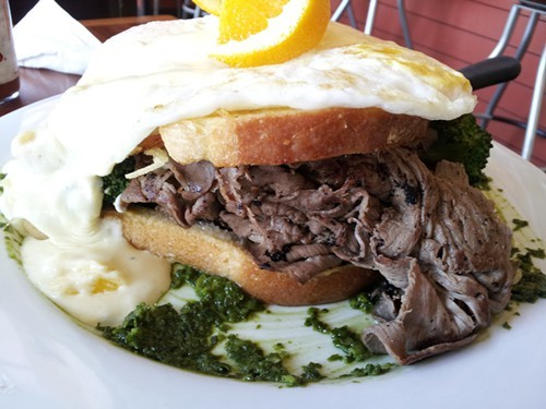 Grass-fed BN Ranch Roast Beef Alameda, at Sunny Side Cafe