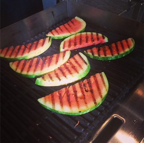 Grilled watermelon at Liba Falafel (via Instagram)