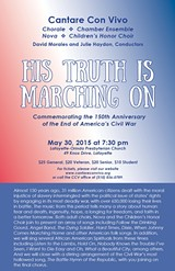 His Truth is Marching On - Flyer