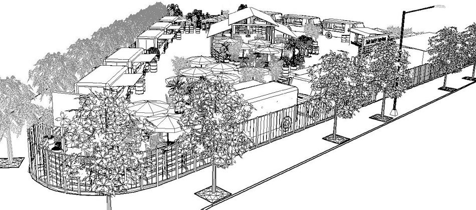SoMa Street Food court illustration - COURTESY OF SOMA STREET FOOD