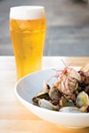 Hopscotch uses Asahi in its broth for beer-steamed clams.