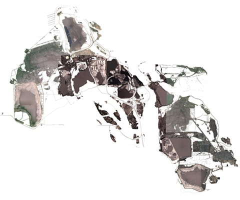 """The Athabasca Oil Sands in Jenny Odell's series, """"Land Marks,"""" being presented at Swissnex."""