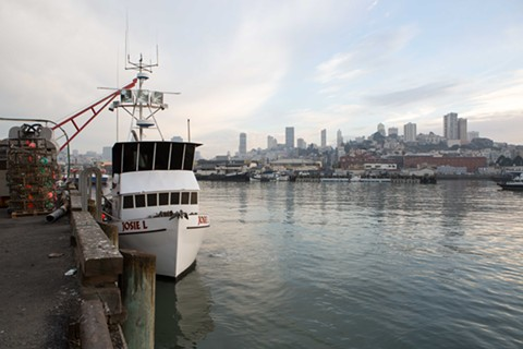 San Francisco's Pier 45, located next to Fishermen's Wharf, is still an important stop for commercial crab vessels like this one.