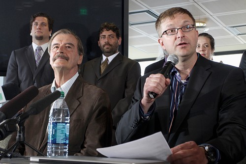 Jamen Shively and former Mexico Pres. Vicente Fox announce plans for a national pot brand