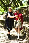 Jeff Raz as Arisyophanes and John Mercer as Ares.