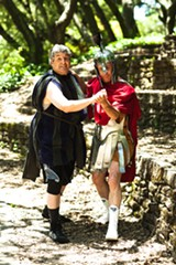 JESSICA PALOPOLI - Jeff Raz as Arisyophanes and John Mercer as Ares.