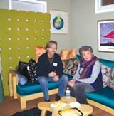 Jeff Wright with Cordelia DeVere at Bridge Artspace.