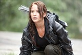 Jennifer Lawrence stars as sixteen-year-old heroine Katniss Everdeen in The Hunger Games.