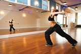 STEPHEN LOEWINSOHN - Jenny Lucero Riviera (Yeni) teaches dance at Flying Yoga Shala.