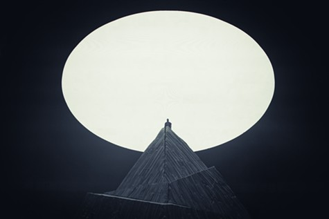 Kanye West performing in Seattle.