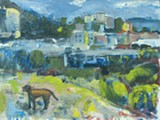 "Karen Zullo Sherr's ""The Dog at Albany Bulb."""