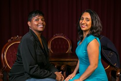 Karinda Dobbins (L) and Dhaya Lakshminarayanan want to shake up the comedy status quo. - BERT JOHNSON