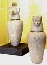 "Kathy Aoki's ""Canopic Jars, Artist Unknown, 2061-2063 AD."""