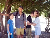 Keegan Dimler (left, with family) can eat safely at Celiac Camp.