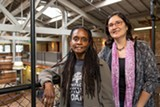 BERT JOHNSON - Konda Mason (left) and Lisa Chacon of Impact Hub Oakland.