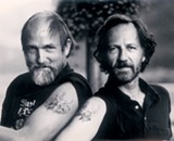 Les Blank and Werner Herzog in Burden of Dreams.