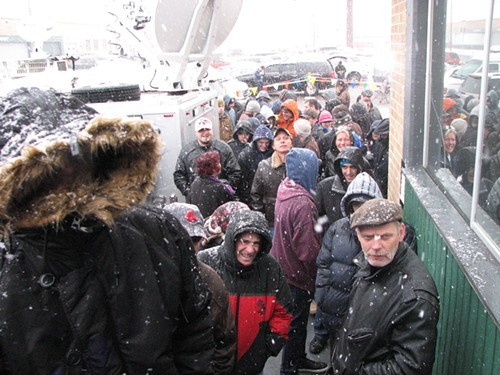 Lines formed at dawn at 3D Cannabis Center in Denver Wednesday. Snowfall accompanied the 8 a.m. sales launch. Its a blessing, said one customer.