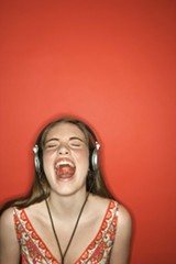 Listening to music on headphones worsens hearing loss.