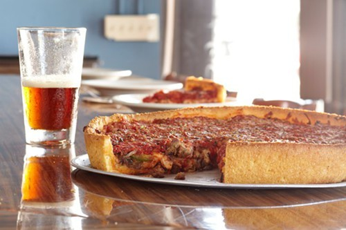 Little Stars exquisite deep dish pizza, coming soon to The Star on Grand Ave. (via Facebook)