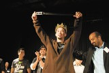JUSTIN JAO - Luke Patterson claims his title at last year's Mr. Hyphen pageant.